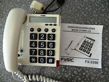 FYSIC FX-3350 - Téléphone à grandes touches