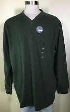 Covington Green Soft Sueded Cotton Pullover V-Neck Sweater Shirt Men's XXL NWT