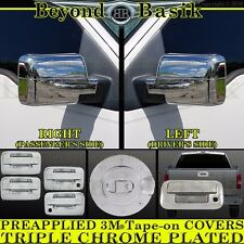 2004-2008 FORD F150 Chrome Door Handle(2k,noKP)+Gas Door+Mirror+Tailgate Covers