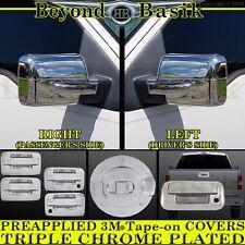 2004-2008 FORD F150 Chrome Door Handle(2k,noKP)+Gas Door+Mirror+Tailgate Covers
