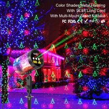 SUNY RGR Green Tree Red Star Landscape Light 3 Lens Xmas Outdoor Laser Projector