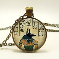 Ancient Egypt Pyramid Egyptian Lord Of The Underworld Anubis Pendant Necklace