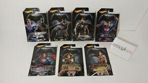 Hotwheels lot 7 cars Batman VS Superman complete set 2015 Mattel  Wonder woman