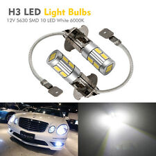 2x H3 5630 SMD 10 LED Bulbs XENON White 6000K -Car Fog Light Lamp 12V Quality AU