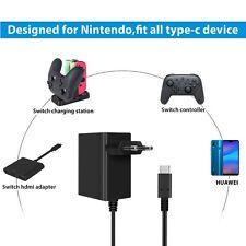 Adaptateur Secteur Nintendo Switch Chargeur de Voyage mural Câble Type C F1