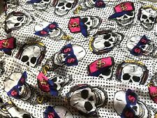 Lovely Stylish HUGE Primark Skull Retro Designer Style Viscose Scarf