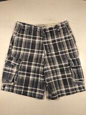 "Abercrombie & fitch pantalones cortos azul y blanca a cuadros-M - 32"""