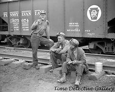 Coal Miners Eating Ice Cream Bars, Pursglove, W.Va - 1938 - Historic Photo Print