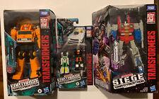 Transformers War for Cybertron lot - Earthrise Grapple, Siege Starscream + Bonus