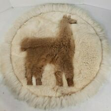 """Lama Leather Rug Multi Color Tan Brown And White 28"""" By 28"""""""