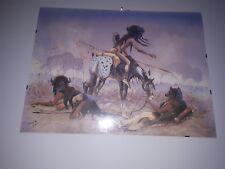 """Lakota native american artist Paha Ska signed numbered print 24"""" x 18 vintage"""