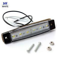 1PC 24V Trailer 6 LED Indicators Light Truck Boat  BUS Side Marker RV Lamp White