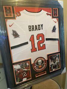 Tom Brady UNSIGNED Framed Jersey NFL Buccaneers
