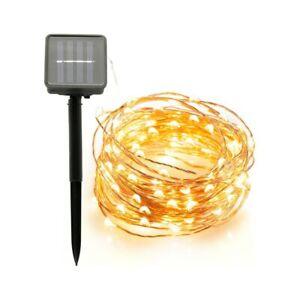 Extérieur 10 M 20 M lampe solaire LED chaîne fée lumières Flash 100/200 LED s