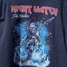 Night Watch The Walker Game of Thrones Iron Maiden T Shirt Black Size XL