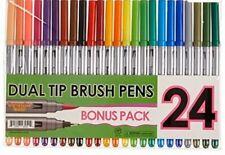24-Dual-Tip-Brush-Pens-Markers-Adult-Coloring-Books-Set-Art-Colors-Sketching