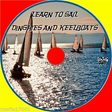 LEARN HOW TO SAIL SMALL BOATS KEELBOAT DINGHIES EASY BEGINNERS LESSONS VIDEO DVD