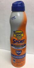 Banana Boat Sport 6 Oz Sunscreen Powerstay Technology Clear Ultra Mist Spf100