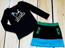 NWT 5 5T Gymboree Fancy Dalmation Ooh lala embroidered top color block skirt set