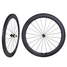 60mm Sapim CX-RAY Carbon Wheels Clincher Road Bike 700C Basalt Rims 23mm wide 3K