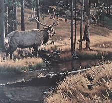 Rod Frederick Glory Days 4 Elk in Woods S/N Mint Coa 1993 Stunning! #930/1750