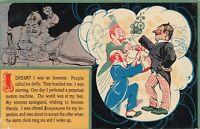1911 Postcard , The Rich  Inventor - Cartoon Comic Card, St. Paul Minn.