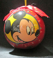 Disney Mickey Mouse Red Christmas Ornament Plastic Bulb Ball Lights Snow