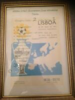 1967 EUROPEAN CUP FINAL - CELTIC FRAMED CANVAS PRINT