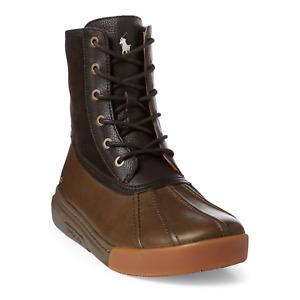 Polo Ralph Lauren Men's Declan Leather Duck Boot Navy Size 8-14