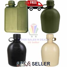 I QUART WATER CANTEEN Official Durable Military Plastic Army Genuine GI USA Made