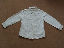 Boys Joules White Check Shirt Fitted Long Sleeves Cotton Age 6 years