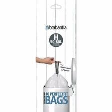 BRABANTIA Perfect Fit Bin Bags/Liners (SIZE H, 50-60L). Extra Strong, Pack of 10
