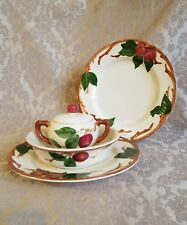 "VINTAGE LOT FRANCISCAN APPLE CHINA 2 Dinner Plates 8"" Bowl Sugar Bowl with Lid"