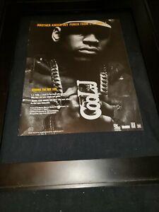 L.L. Cool J Around The Way Girl Rare Original Radio Promo Ad Framed!