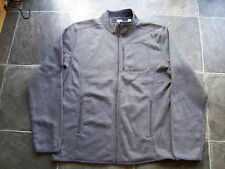BNWT Men's Grey Polar Fleece Zippered Jacket Size XL