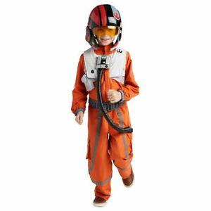 NWT Disney Store Boys Star Wars POE DAMERON Flight Suit Costume Size 9-10