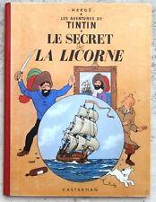 Tintin Le Secret de la Licorne B29 1960 TTBE Hergé