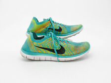 Details about Nike Flyknit Free Run 4.0 Men Size 13 Blue Black No Insoles Missing Tag