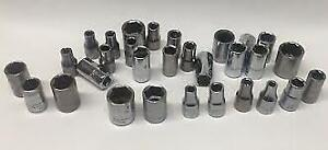 "Used Craftsman Sockets 1/4"", 3/8"" 1/2"", 3/4"" Shallow/Deep All Made in the USA"
