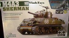 Heng Long 1/16 R/C M4A3 Sherman Tank w/105mm Upgrade w/Metal Gear & Tracks USA