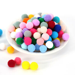 Single Colour Pom Poms Pack of 50 20mm Balls DIY Craft Garland