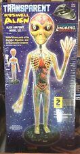 """New Lindberg Transparent Roswell Alien Anatomy 19"""" Model Kit"""