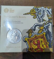 More details for 2017 the queens beasts unicorn of scotland £5 five pound royal mint pack sealed