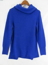 DKNY Jeans Sweater Long Sleeve Cowl Neck Blue Size S New! #7092