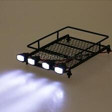 Professinal Austar Roof Luggage Rack w/ LED Light Bar for 1/10 1/8 RC Car R7N0