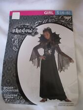 NEW Disguise Girls Halloween Costume Spider Countess Dress Child Size Small 4-6