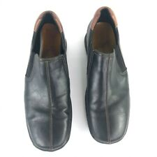 Cole Haan Zeno Men Black Leather Split Toe Slip On Driving Loafers sz 12M C07485