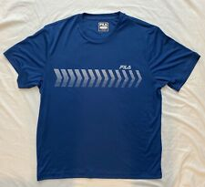 Fila Men's Arrow Crew Blue Shirt Large Training Performadri