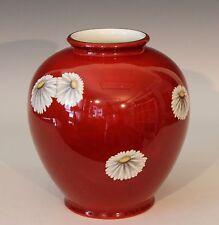 """Vintage X Large Noritake Japanese Porcelain Chinese Red Chrysanthemum Vase 9.5"""""""