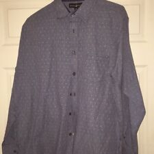 Beverly Hills Polo Club size XL shirt blue color cotton blend. Made in bandsmen